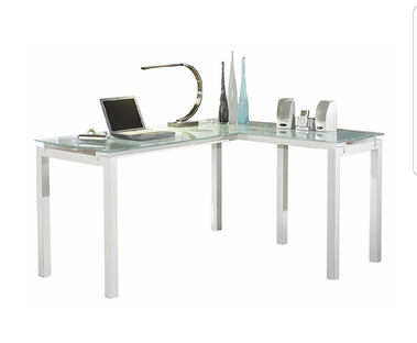 """Signature Design by Ashley H410-24 Baraga Collection Home Office Desk, 61"""", White"""