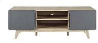 Modway EEI-2543-NAT-GRY Tread, 59 TV Stand, Natural Gray