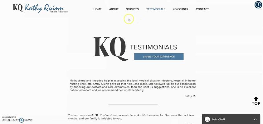 Diseño de sitios web | Kathy Quinn, defensora de pacientes