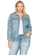 Lucky Brand Women's Plus Size Waisted Trucker Jacket