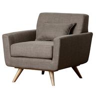 Abbyson Paisley Khaki Tufted Fabric Armchair