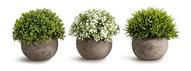 OPPS Artificial Mini Plants In Gray Pot