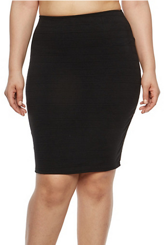 Plus Size Bandage Pencil Skirt.PNG
