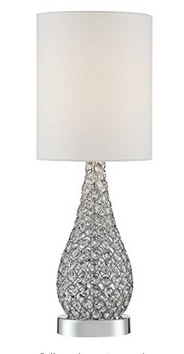 Leola Crystal Bead Gourd Table Lamp