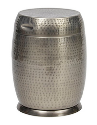 Bombay Traditional Outdoors Madras Drum Side Table (Silver)