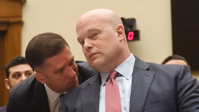 Acting Attorney General Matthew Whitaker testifies to the House Judiciary Committee on February 8th, 2019.