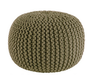 Cotton Craft - Hand Knitted Cable Style Dori Pouf 20 x 14 High