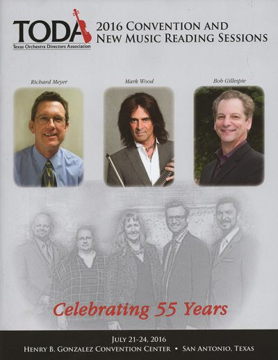 TODA | (Texas Orchestra DIrector's Association) Journal Cover