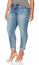 Signature by Levi Strauss & Co. Gold Label Women's Plus Size Mid-Rise Slim Cuffed Jeans