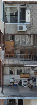 Social Housing in Tbilisi. Architect: Otar Kalandarishvili, G. Potskhishvili  Year of Construction: 1974–1976