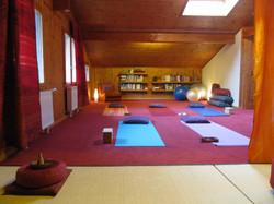 notre espace yoga aux Avants