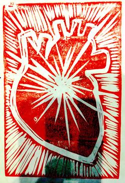 mirrored heart