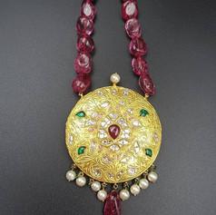 Lightweight Jadau polki pendant