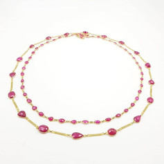 Ruby Chains in 18k gold