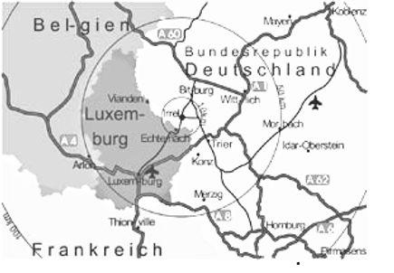 Gewerbepark Südeifel mit Einzugsbereich