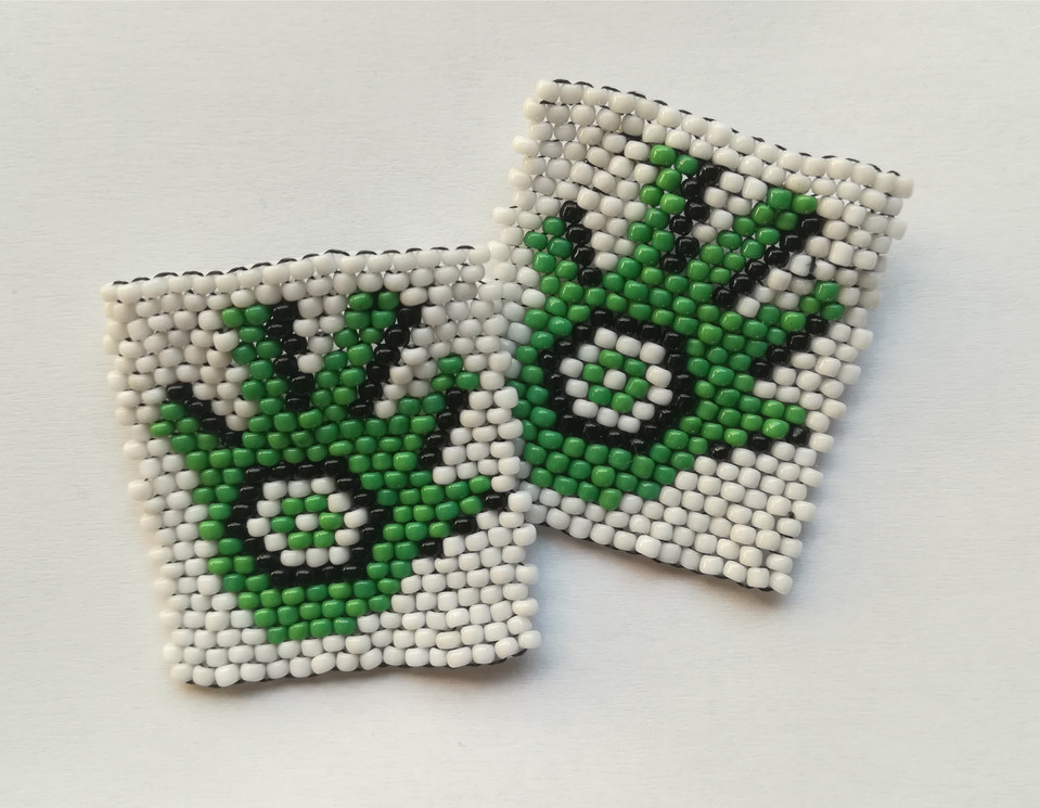 Beade Logo Brooches for Pikitup Recycling