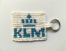 Beaded logo Tag for KLM Airline