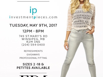 Winnipeg FDJ Fit Clinic Event Tuesday, May 9th, 2017 at Investment Pieces Fashion Boutique