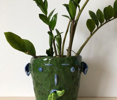 Large face pot