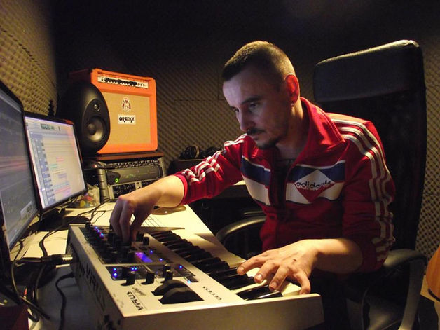 Cornel Sorian at work in his studio, at Wilhelm Scream Audio. Protools, Virus Indigo, Orange, Universal Audio, Munro Egg