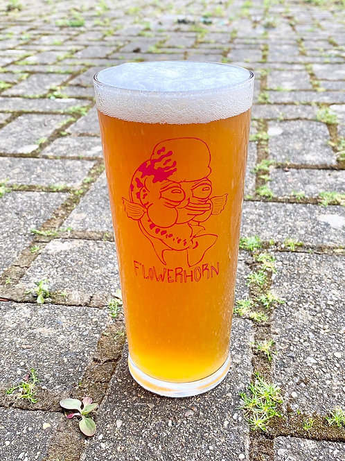 Flowerhorn Logo Pint Glass