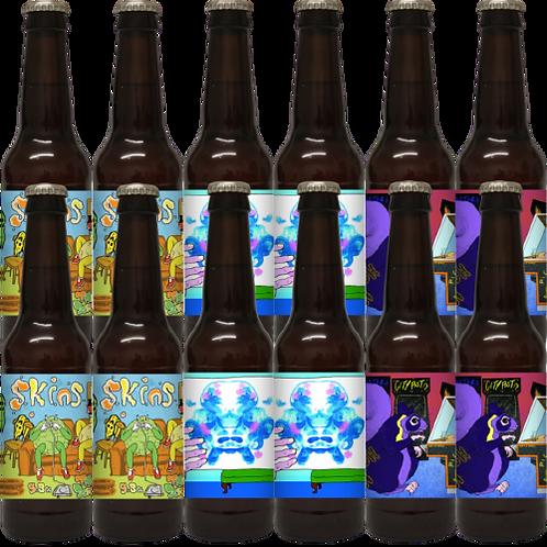Skins/Capo/GABA - 12 x 330ml Vegan Bottles