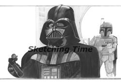 Darth Vader with Bounty Hunter