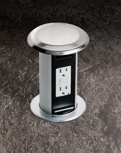Pop-up outlets are a great option to add more outlets and to avoid clutter on your countertops.
