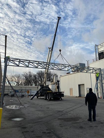 Crane Service railing by JM Welding Inc. Co