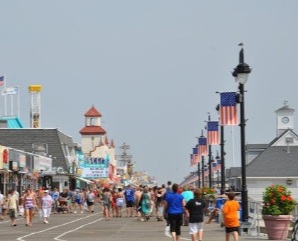 Ocean City Boardwalk near the Impala Suites