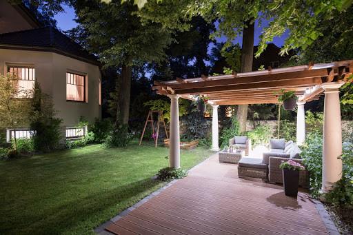 Beautifully lit patio