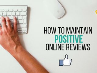 How to Maintain Positive Online Reviews