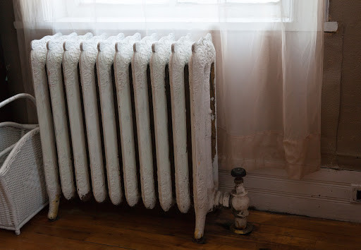 Outdated white radiator
