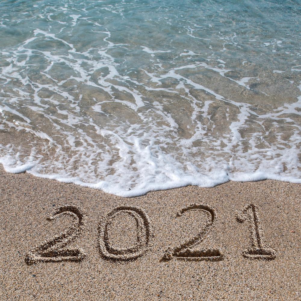 2021 written in sand