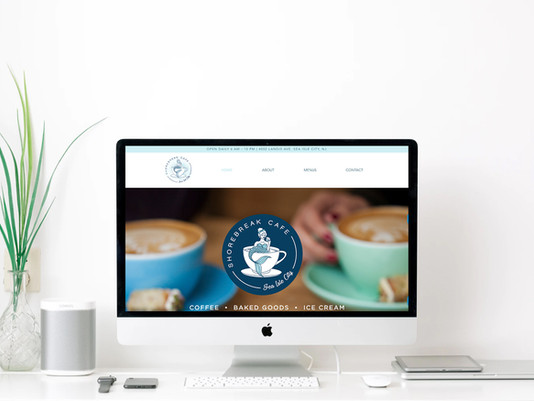 Custom Website Design for Shorebreak Cafe