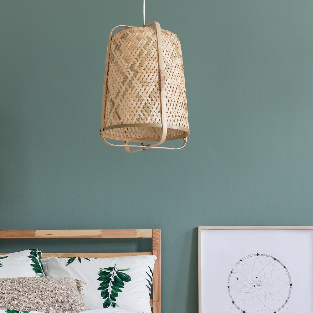 Electrical Plus Woven Basket Pendant