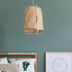 Electrical Plus Woven Basket Pendant