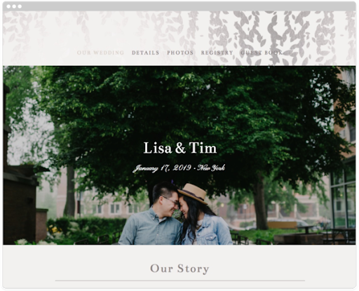 Share your registry on your wedding website.