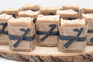 A memorable touch to add is by creating a personalized scented soap to add to your party favors.