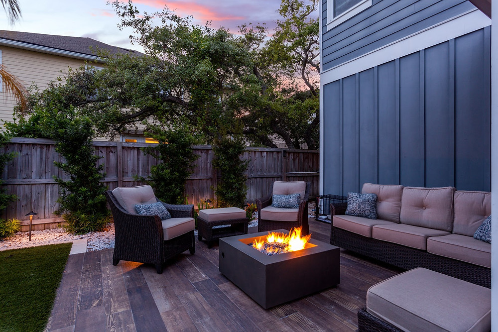 Technology has transformed the traditional fireplace into an artistic mainstay of many backyards.
