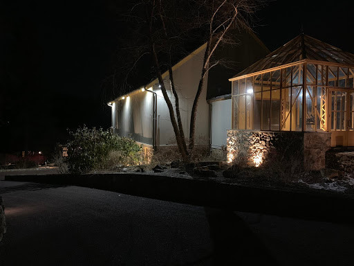Lighting upgrades made clients barn more visible in the night, but also more welcoming to all, and a fun, new spot to utilize when guests are over.