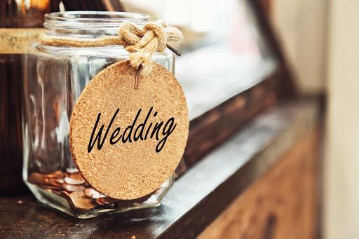 Jar for wedding savings