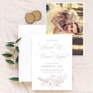 Having your invitations and RSVP cards printed on biodegradable paper ties the textures of the beach to the venue.