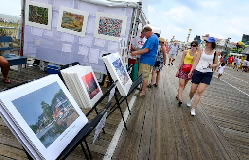 58th Annual Boardwalk Art Show - August 6th to August 8th from 10:00am-8:00pm (6:00pm on Sunday) on the Boardwalk