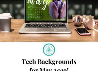 Free, Downloadable Tech Backgrounds for May 2019!