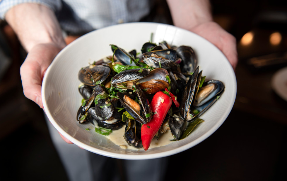 Steamed Maine Mussels