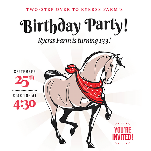 Ryerss Farm Birthday Tickets