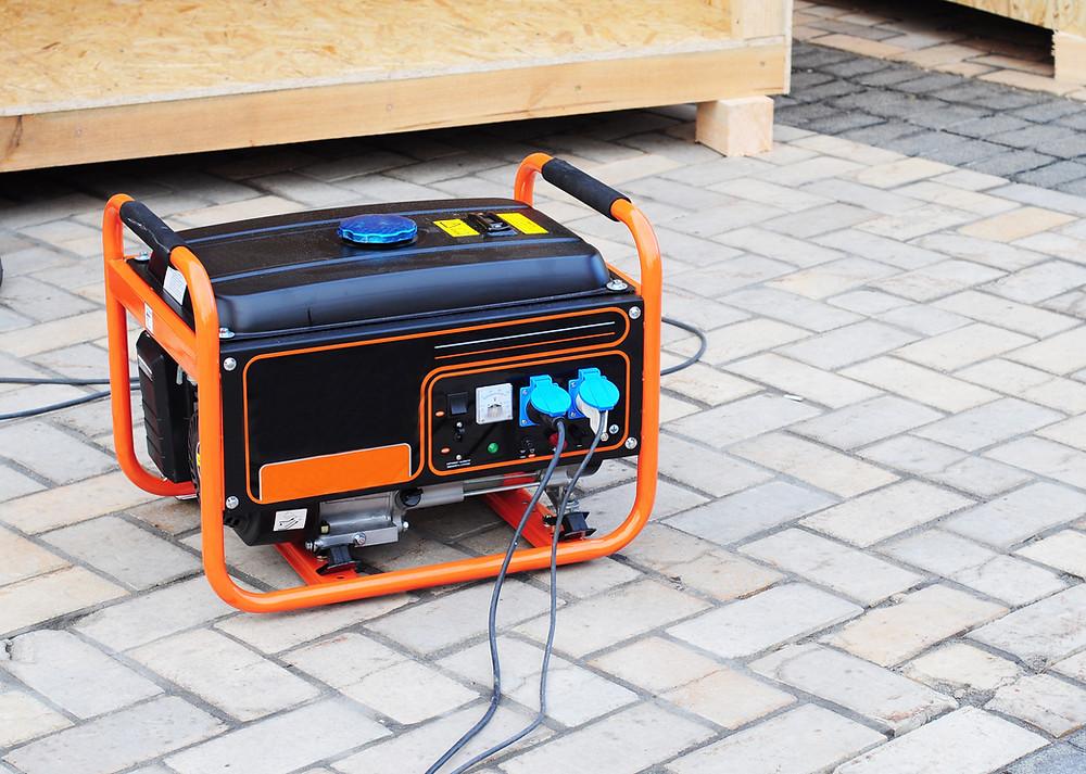 Orange diesel generator