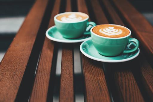 Teal coffee cups