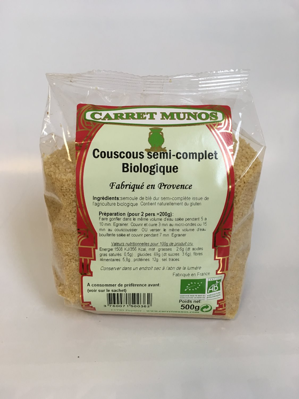 Couscous BIO semi-complet